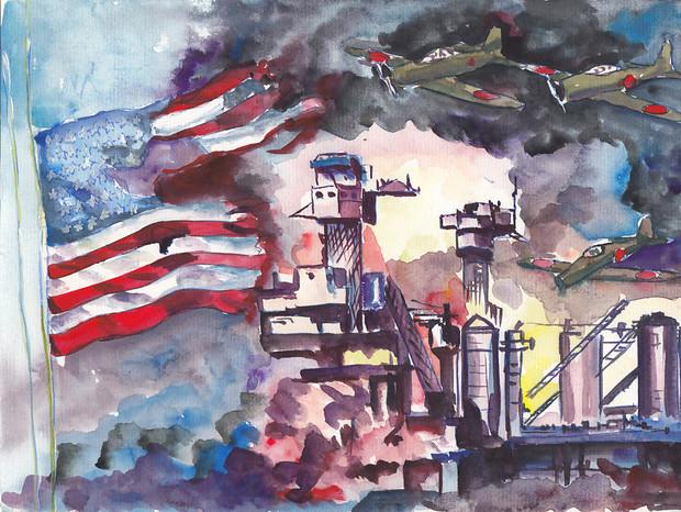真珠湾攻撃日米開戦イメージ