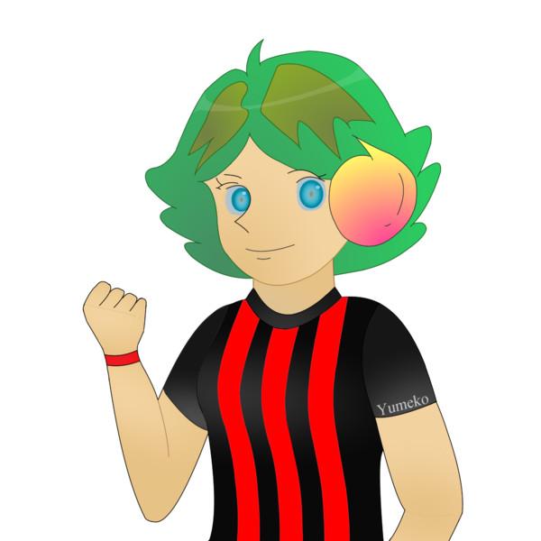 JR8DAGのAM & QRP ホームページの公式イメージキャラクターのゆめこ(赤黒縦縞)(2)