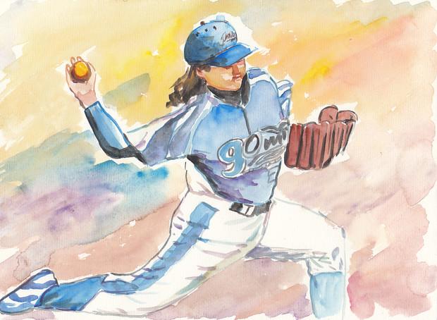 女子プロ野球投手