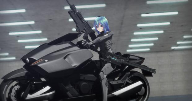 ミクちゃんとバイク!