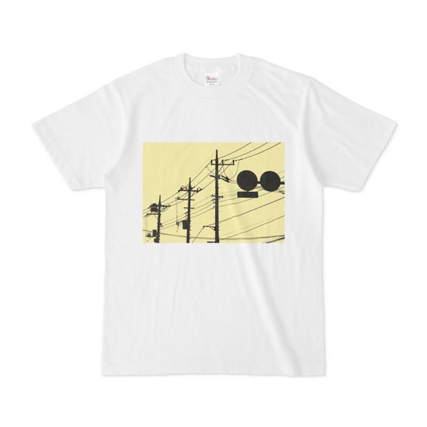 シンプルデザインTシャツ トリプル電柱×標識