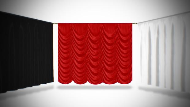 レール付きカーテン
