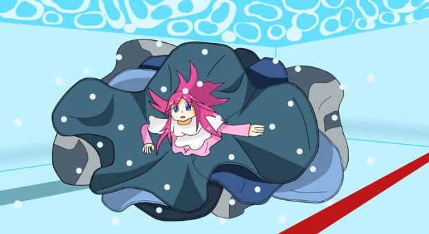 少女水泳中(※服を着たままで)