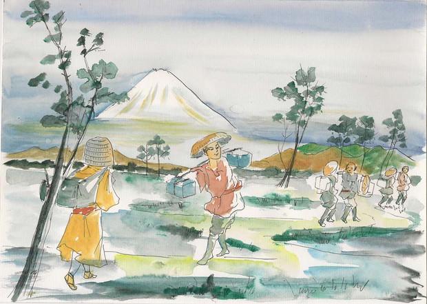 東海道五十三次 富士山