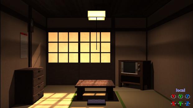 【MMD】和室(四畳半)【モデル配布】