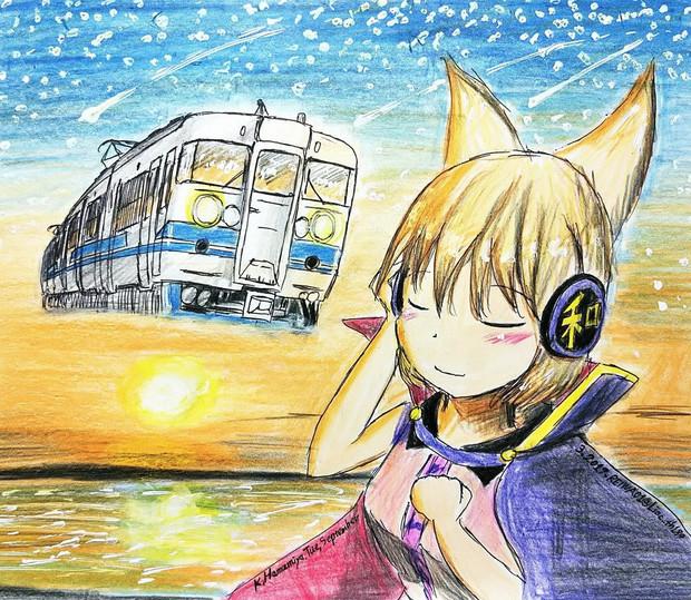 Memories of Hokuriku with sunset……