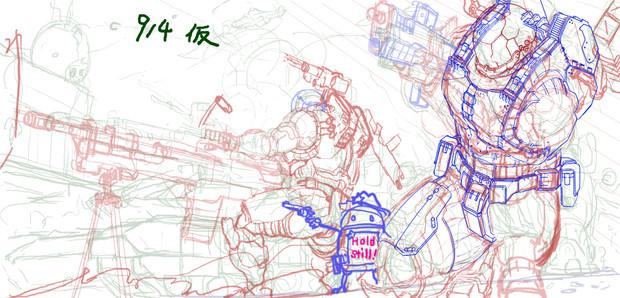 MAL:人類軍新型スーツ(ラフ&ご報告)