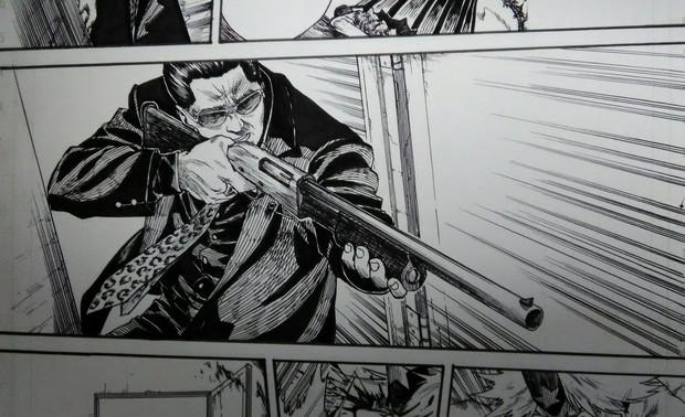 散弾銃を構えるおっさん うよいかっか さんのイラスト ニコニコ静