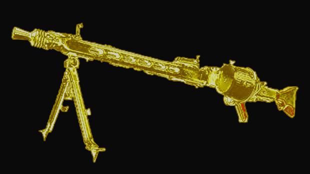 ゴールドMG42機関銃 イラスト