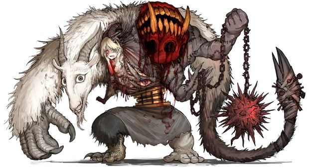 フォロワーの好きな要素を詰め込んだ創作獣を描くやつ その6