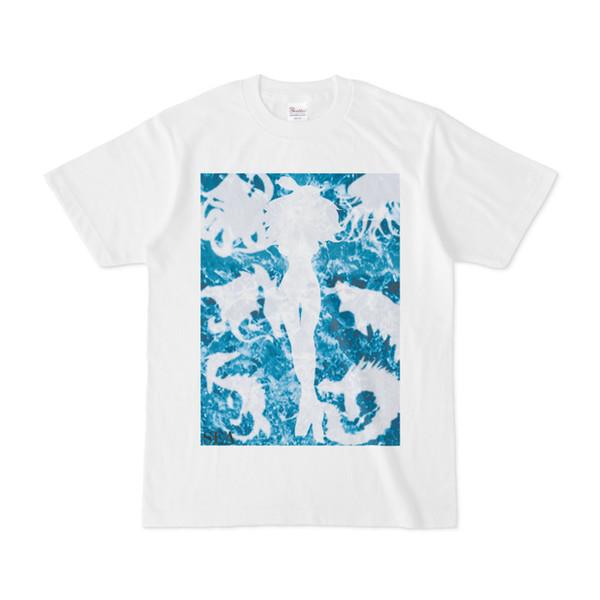 シンプルデザインTシャツ 海女さん