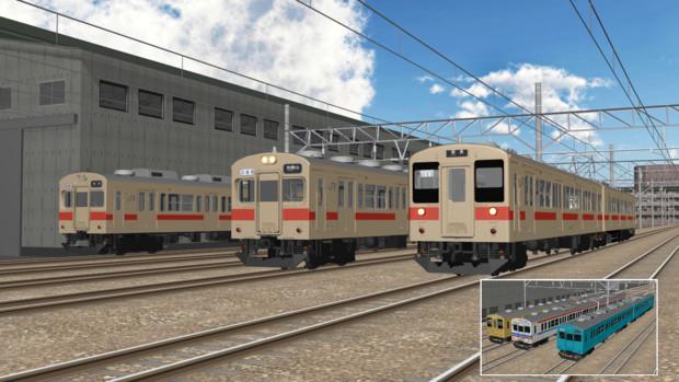 【MMDモデル配布あり】105系通勤型電車4ドア車(β版)【MMD鉄道】