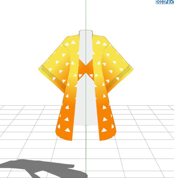 【MMDアクセサリ配布】善逸の羽織