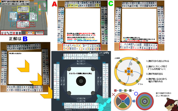 Unity麻雀 撹拌に対する認識クイズ1の答え (参考)