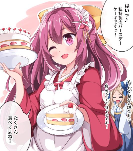 自分で自分の誕生日ケーキ作っちゃう神風