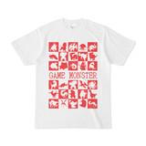 シンプルデザインTシャツ GAME MONSTER(RED)
