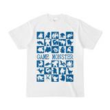 シンプルデザインTシャツ GAME MONSTER(BLUE)