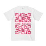 シンプルデザインTシャツ GAME MONSTER(MAGENTA)