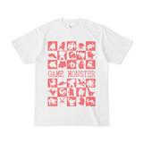 シンプルデザインTシャツ GAME MONSTER(PINK)