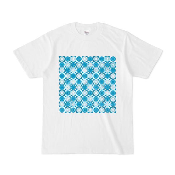 シンプルデザインTシャツ Othello(CYAN)