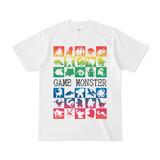 シンプルデザインTシャツ GAME MONSTER(RAINBOW)