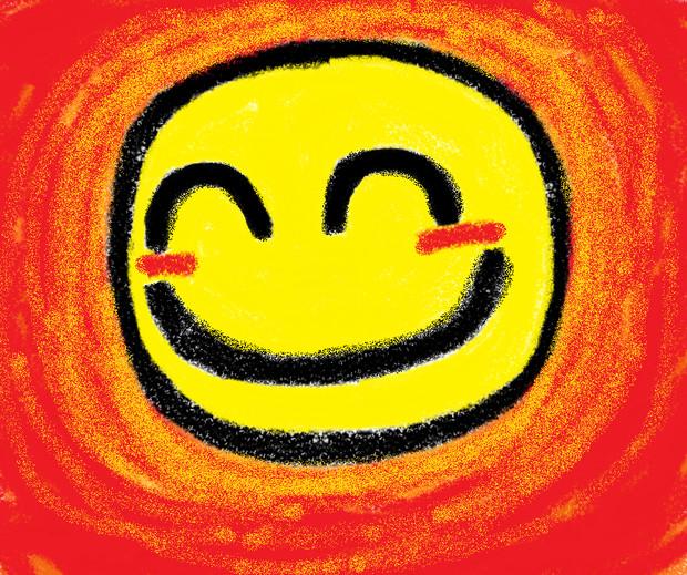 幸せスマイル舌をだらりします笑顔世界笑いの日にベクター イラスト