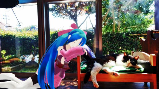 ミクさんと猫カフェ