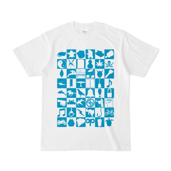 シンプルデザインTシャツ Spur_48(CYAN)