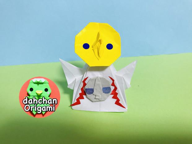 【折り紙】立体 太陽の塔