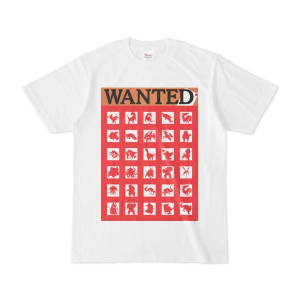 シンプルデザインTシャツ WANTED MONSTER(RED)