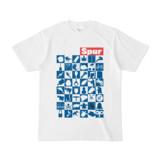 シンプルデザインTシャツ Spur_48_ON(BLUE)