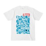 シンプルデザインTシャツ Spur_48_ON(CYAN)
