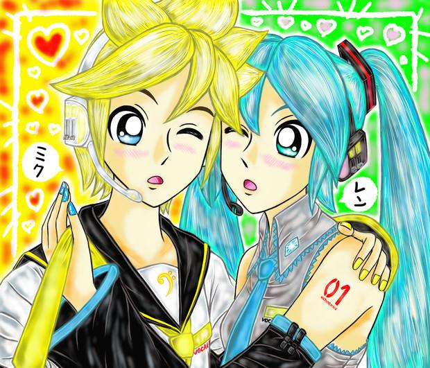 ミクレン LOVE♡LOVE♡なふ・た・り『10月9日ミクレンの日おめでとう~♪』