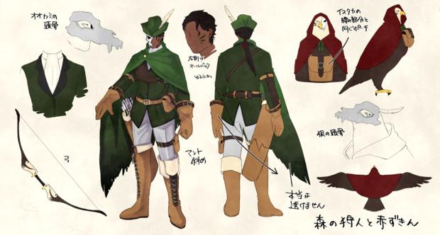 森の狩人と赤ずきん