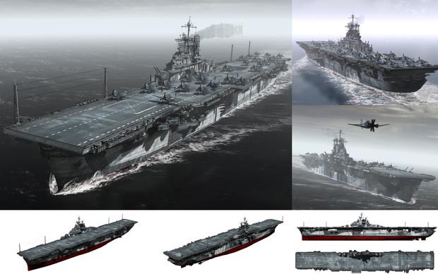 MMD用モブ航空母艦1944(モブックス)セット