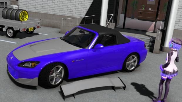 【MMDモデル配布】S2000用エアロパーツ