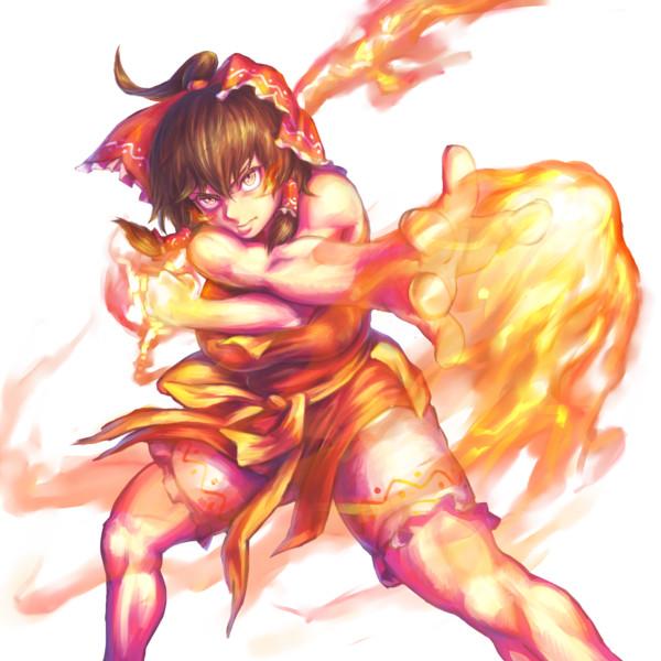 野獣の咆火(透過PNG)