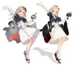 ジェーナス【MMD艦これ改造モデル】比較(ぽんぷ長式改変)