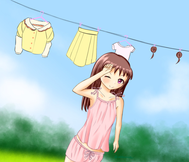 洗濯する愛海