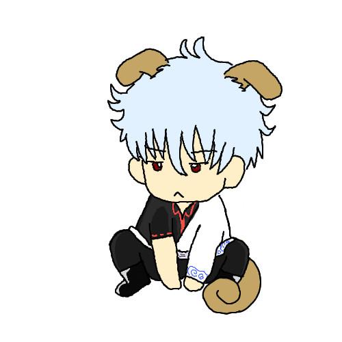 【gifアニメ】銀さん、わんわんお