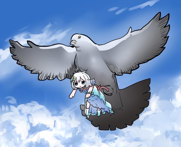 鳩とシロさん