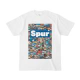 シンプルデザインTシャツ Spur_176/2(BLUE)