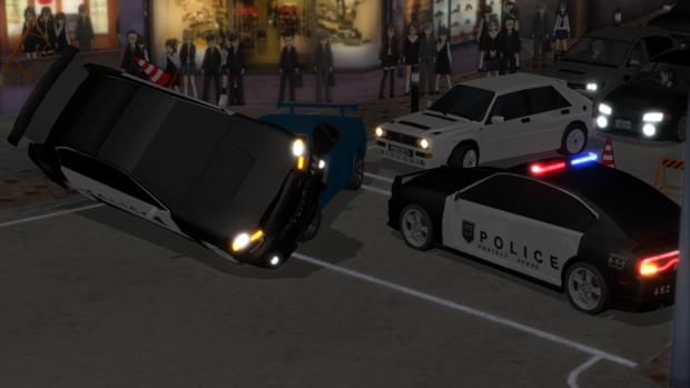 艦娘が参加している違法ストリートレースが勃発中…