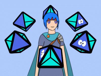 [GIFアニメ] 四面半六面体と少年戦士