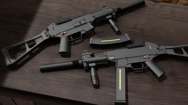 【MMD】UMP45&UMP9【モデル配布】