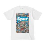 シンプルデザインTシャツ Spur_176/2(CYAN)