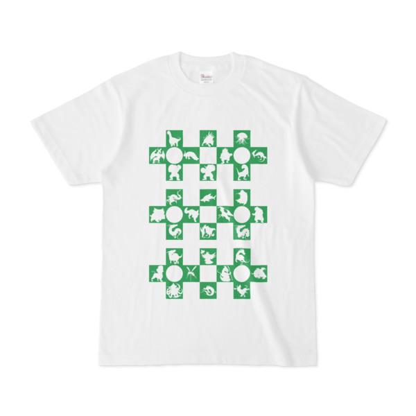 シンプルデザインTシャツ Cr/MONSTER(GREEN)