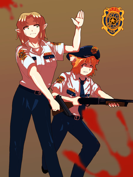 署長が武器を分散させてしまったので突如発生した暴動に対処できないjoker姉貴とリランちゃん
