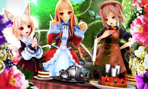 【今日のレア様】お茶会は 美味しいものがいっぱい♪