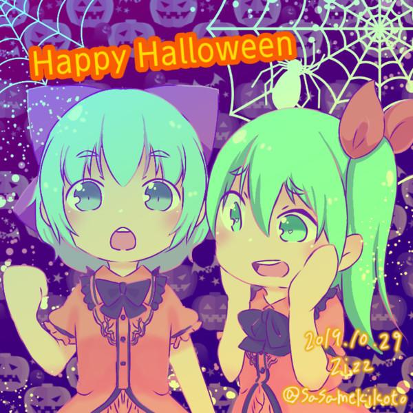 Halloween絵